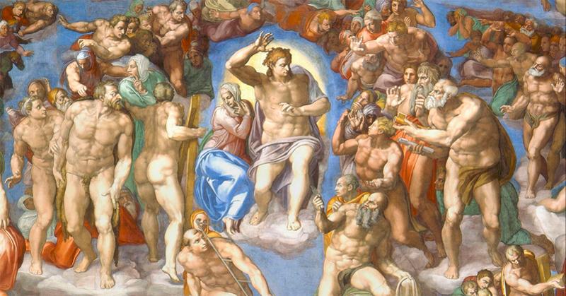 Cristo y la-virgen - Capilla Sixtina